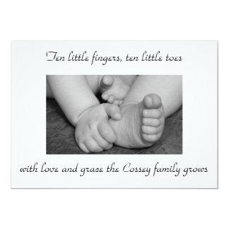 baby,black,and,white,feet,hands,photograph,big,... custom invitation