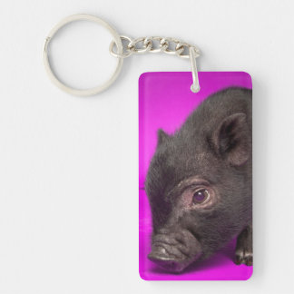 Baby Black Pig Keychain