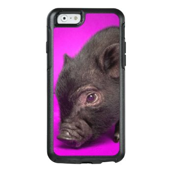 Baby Black Pig Otterbox Iphone 6/6s Case by cutestbabyanimals at Zazzle