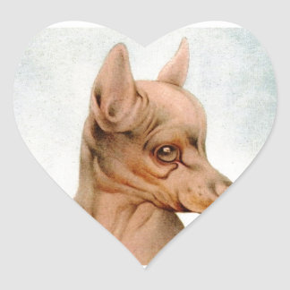 Baby Black & Tan Terrier - SUPER CUTE ! Heart Sticker