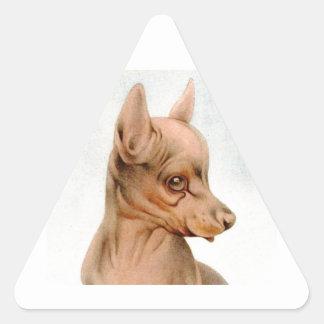 Baby Black & Tan Terrier - SUPER CUTE ! Triangle Sticker