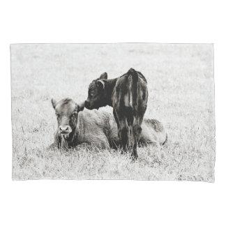 Baby Black & White Calf Pillow Case
