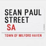Sean paul STREET   Baby Blanket