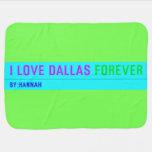 I Love Dallas  Baby Blanket