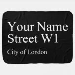 Your Name Street  Baby Blanket