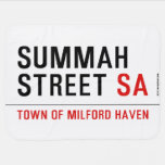 Summah Street  Baby Blanket