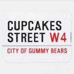 cupcakes Street  Baby Blanket