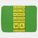 keep calm and love Retha wa Bongz  Baby Blanket