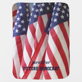 Baby Blanket, American Flags, Future Democrat Baby Blanket