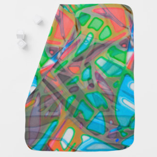 Baby Blanket Colorful Stained Glass