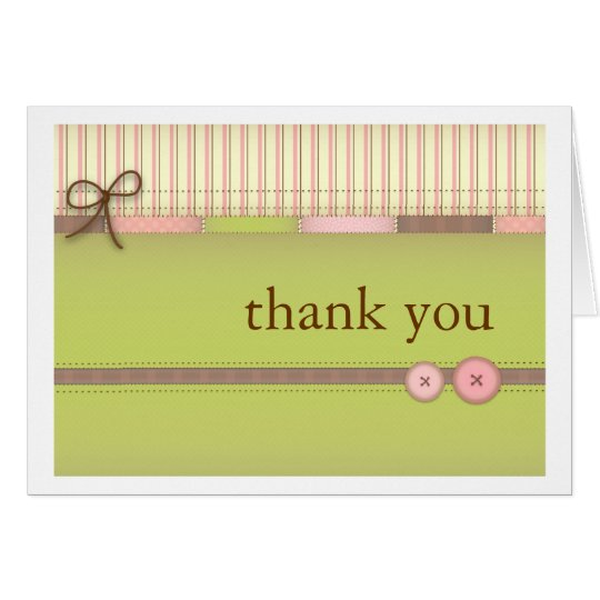 Baby Blanket Cute Quilt Baby Girl Thank You Card