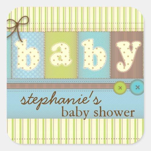 baby blanket cute quilt baby shower sticker zazzle