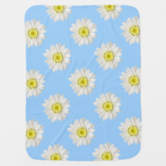 Baby Blanket - Daisies on Blue
