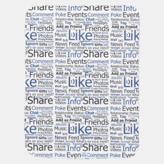 Baby Blanket Facebook Like Word Collage