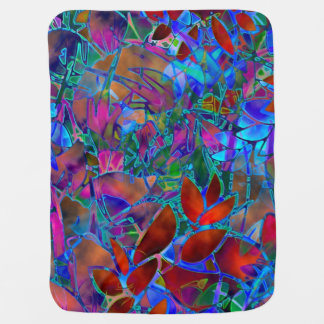 Baby Blanket Floral Abstract Stained Glass