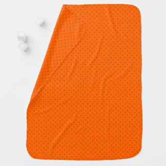 Baby Blanket Orange with Red Dots