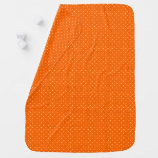 Baby Blanket Orange with White Dots