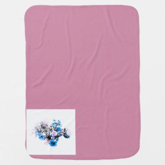 Baby Blanket pink blue crest