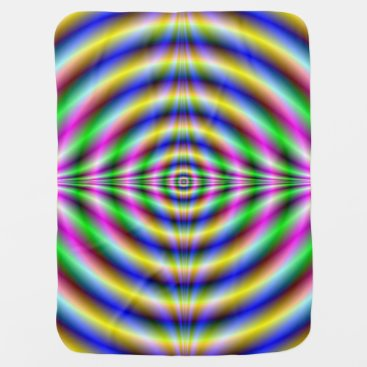 Toddler & Baby themed Baby Blanket   Psychedelic Neon Eye