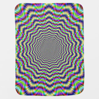 Baby Blanket  Psychedelic Web Star