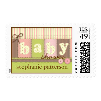 Baby Blanket Quilt Baby Shower Personalized Stamp