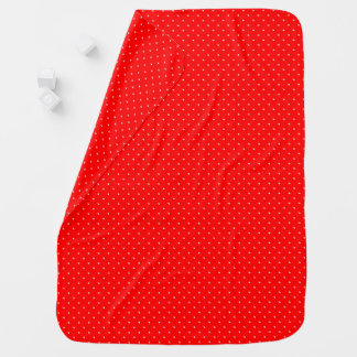 Baby Blanket Red with White Dots