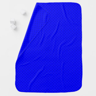 Baby Blanket Royal Blue with Dark Blue Dots