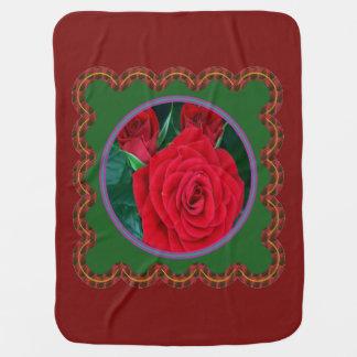 Baby Blanket WARM COZY flower floral design