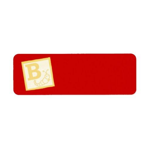 Baby Block B Return Address Labels