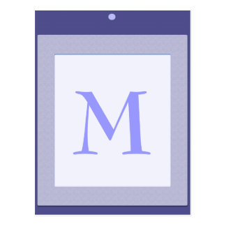 Baby block  initial shower decoration blue postcard