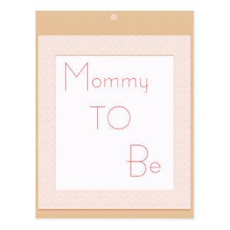Baby block shower decoration postcard