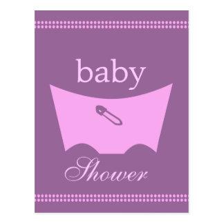 Baby block shower diaper decoration postcard