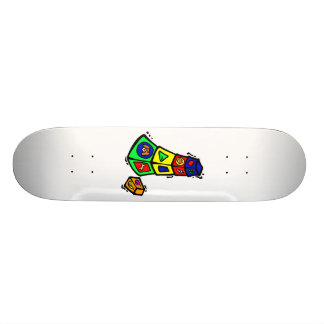 baby block toy graphic square animals skate board