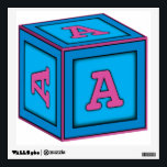 """Baby Block Wall Decal - Letter A<br><div class=""""desc"""">This is part of the baby block alphabet wall decor collection featuring the letter &quot;A&quot;.  The blocks exhibit a childish style with baby blue and pink colors. Use these wall decals with any baby,  toddler,  young boy,  or young girl theme.</div>"""