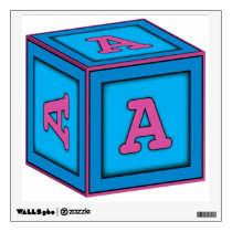 Baby Block Wall Decal - Letter A