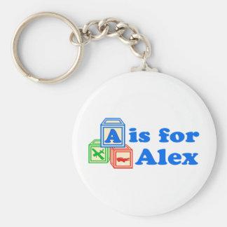 Baby Blocks Alex Keychain