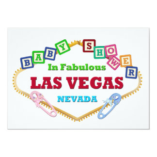 BABY BLOCKS BABY SHOWER LAS VEGAS CARDS