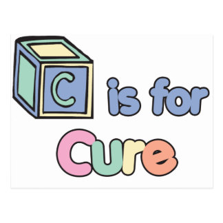 Baby Blocks C is for Cure Postcard