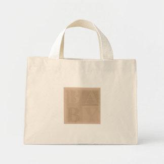 Baby Blocks Earth Tone Mini Tote Bag