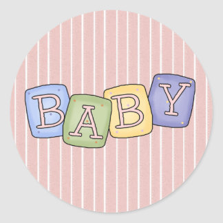 Baby Blocks Fun Stickers ~ Seals