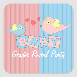 Baby Blocks Gender Reveal Party Stickers