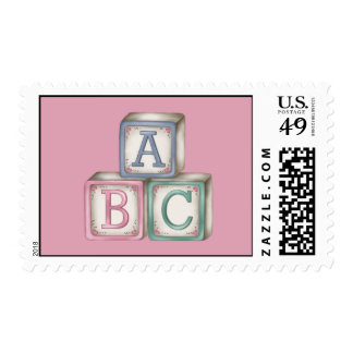 Baby Blocks Postage Stamps