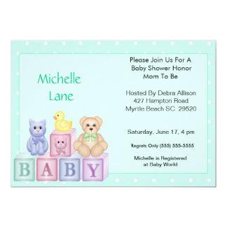 Baby Blocks  Shower Invitation