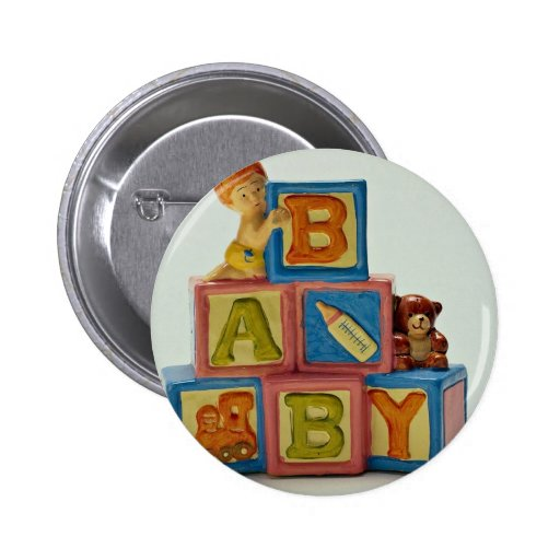 Baby blocks toy for kids button