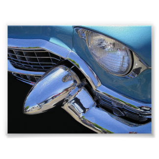 Baby Blue 55 Cadillac Poster
