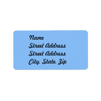 Baby Blue Address Sticker Address Label