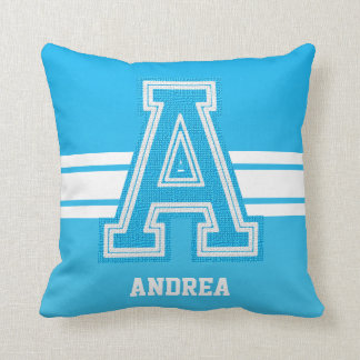 Baby Blue All Varsity Sport Letters Pillow