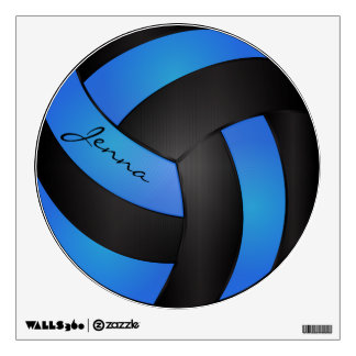 Baby Blue and Black Personalize Volleyball Wall Graphics
