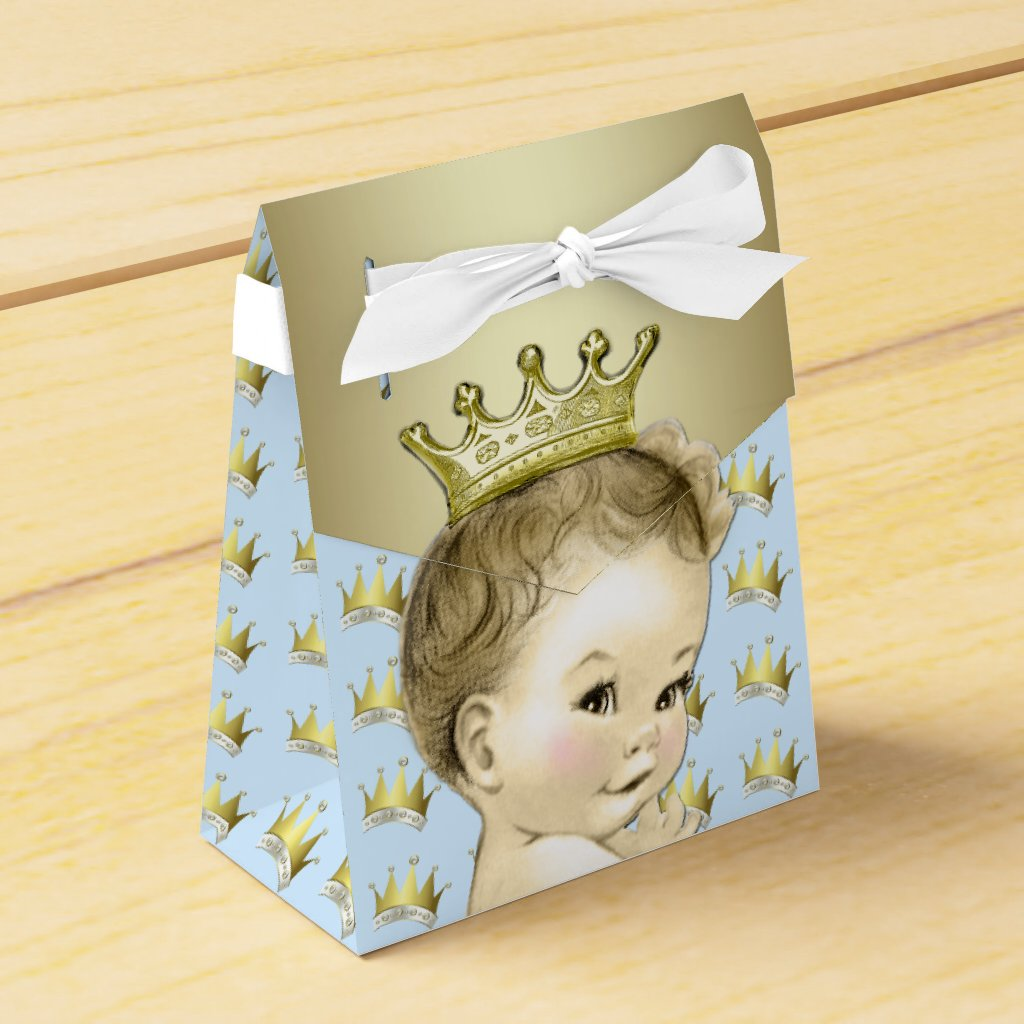 Baby Blue and Gold Prince Baby Shower