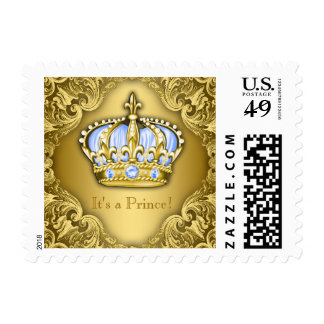 Baby Blue and Gold Prince Stamp
